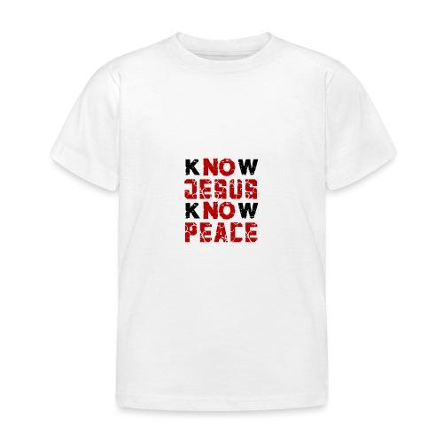 Know Jesus Know Peace (Flower Design) - Kinder T-Shirt