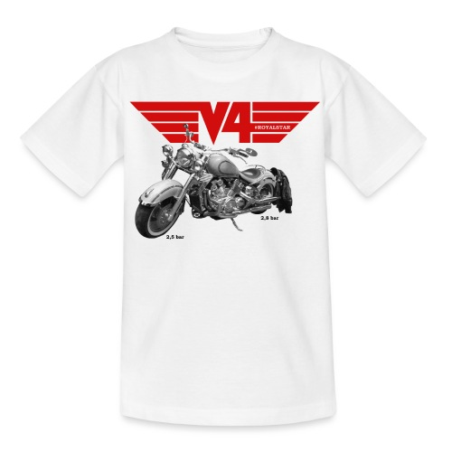 V4 Motorcycles red Wings - Kinder T-Shirt