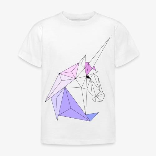Einhorn geometrie unicorn - Kinder T-Shirt