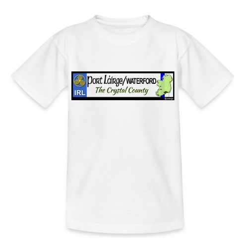 WATERFORD, IRELAND: licence plate tag style decal - Kids' T-Shirt