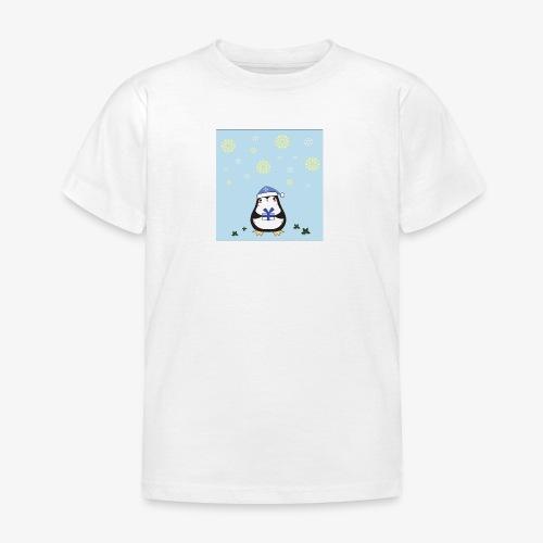 pingouin de Noel sur fond bleu - T-shirt Enfant