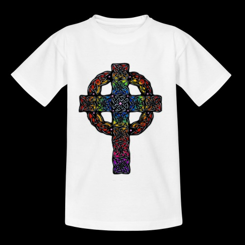 Celtic Cross - rainbow - Kids' T-Shirt