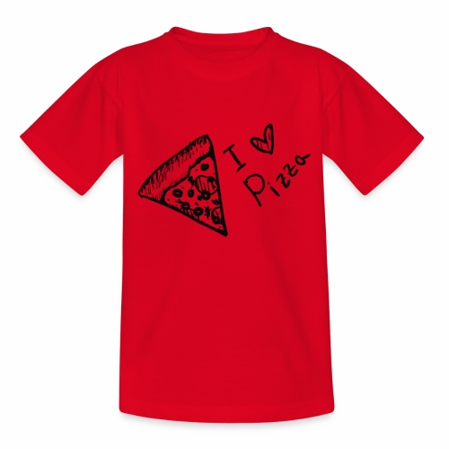 I LOVE PIZZA - Kinder T-Shirt