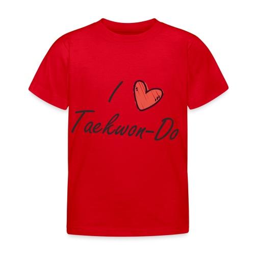 I love taekwondo letras negras - Camiseta niño