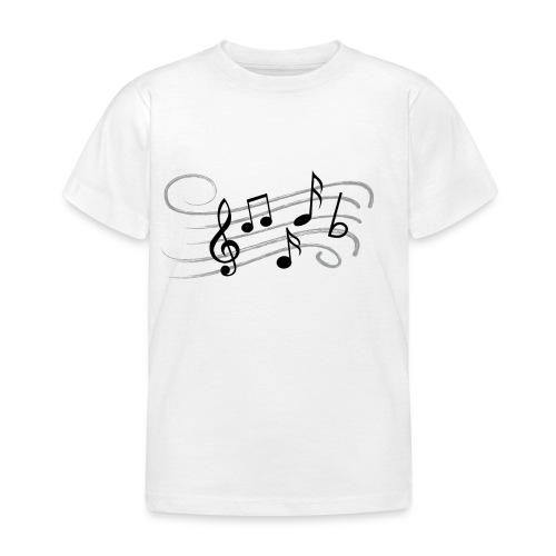 Muzikale bladmuziek muzieknoten patroon. Muziek - Kinderen T-shirt