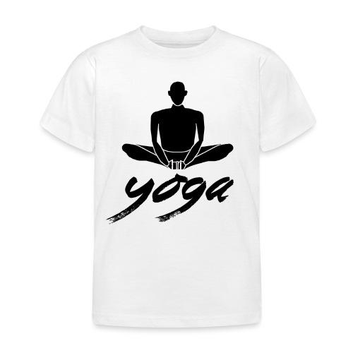 yoga nero yogi namaste pace amore arte hippie - Maglietta per bambini