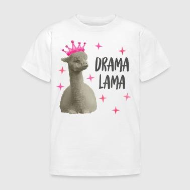 Drama Lama pink/schwarz - Kinder T-Shirt