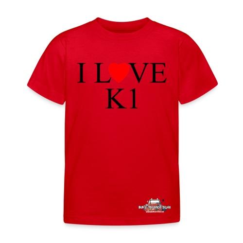 i love k1 nera - Maglietta per bambini