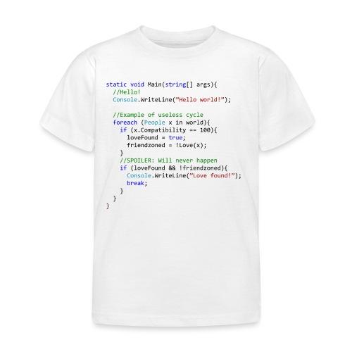 Love seen by a C# programmer - Maglietta per bambini