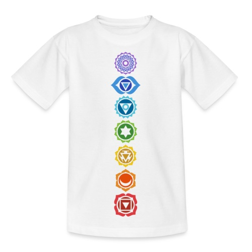 The 7 Chakras, Energy Centres Of The Body - Kids' T-Shirt