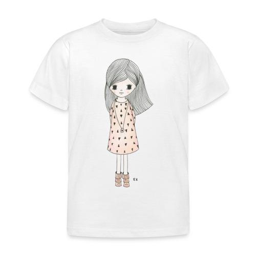 meisje met roze jurk - Kinderen T-shirt