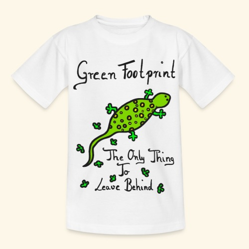 Gecko Green Footprint - Kinder T-Shirt