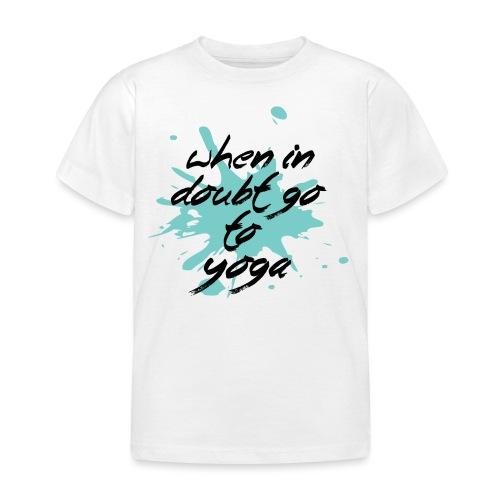 vai allo yoga blue yogi hippie namaste peace love art - Maglietta per bambini