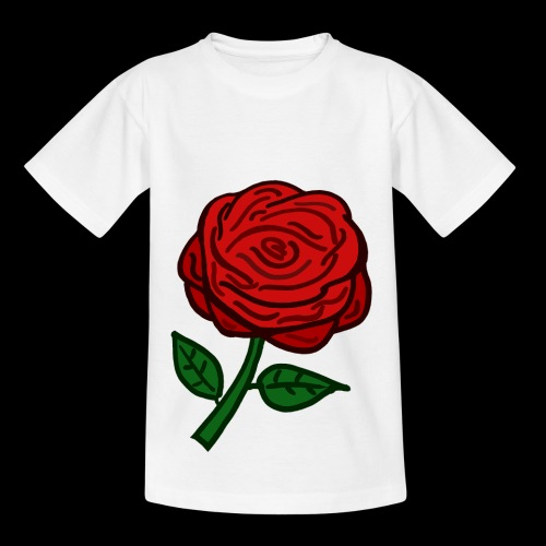 Rote Rose - Kinder T-Shirt