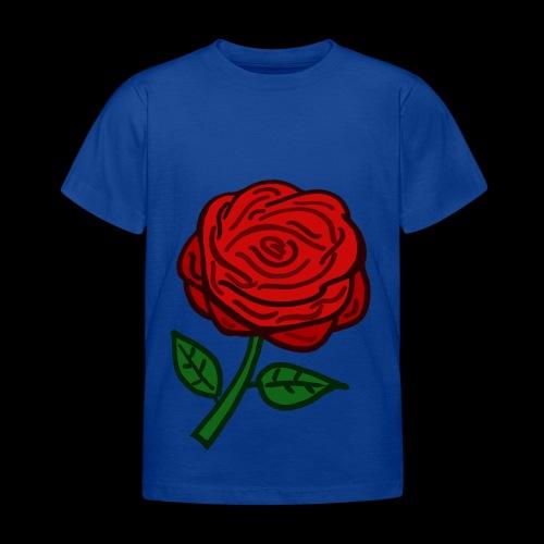 Rote Rose - Kinder T-Shirt