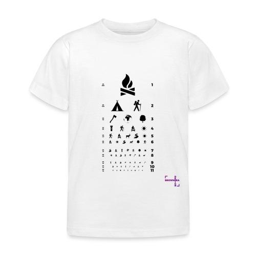 snellen t sort - Børne-T-shirt