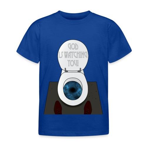 God is watching you! - Maglietta per bambini