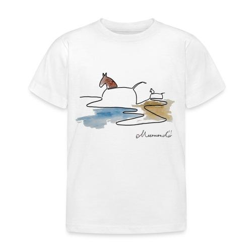 Blåvand 3 - logo - Børne-T-shirt