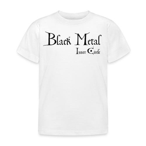 black metal Inner Circle, black ink - Kids' T-Shirt