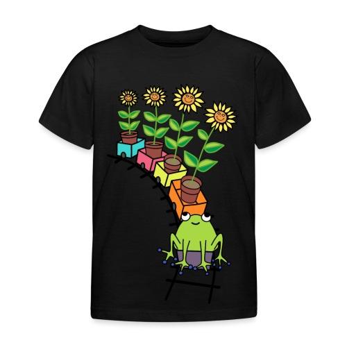frog on train - Kids' T-Shirt