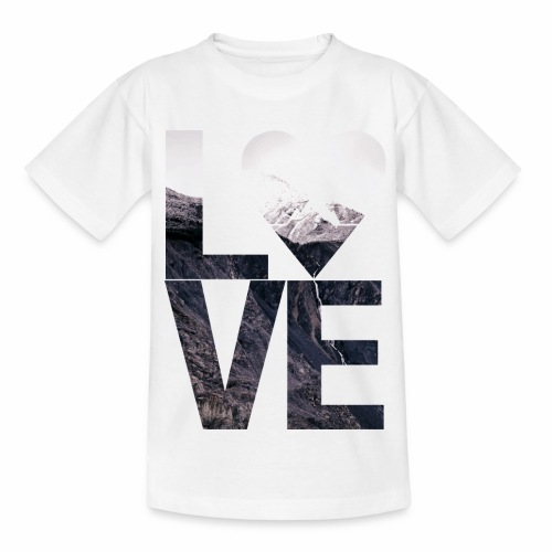 L.O.V.E - Mountains - Kinder T-Shirt
