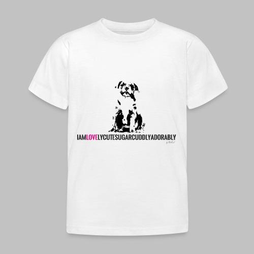 FRANZÖSISCHE BULLDOGE - WELPEN - LOVE - Kinder T-Shirt