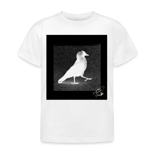 Cool Jackdaw by BlackenedMoonArts, w. logo - Børne-T-shirt
