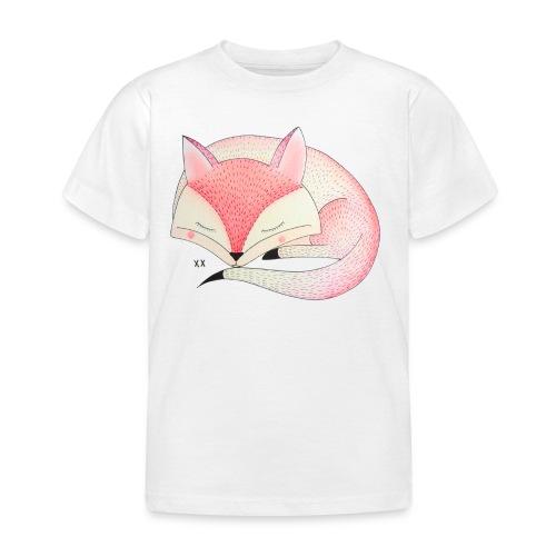 roze vos - Kinderen T-shirt