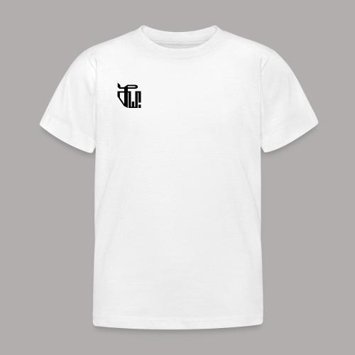 Zirkel, schwarz (vorne) Zirkel, weiss (hinten) - Kinder T-Shirt