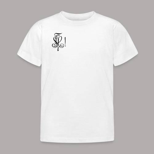 Zirkel, schwarz (vorne) Zirkel, schwarz (hinten) - Kinder T-Shirt
