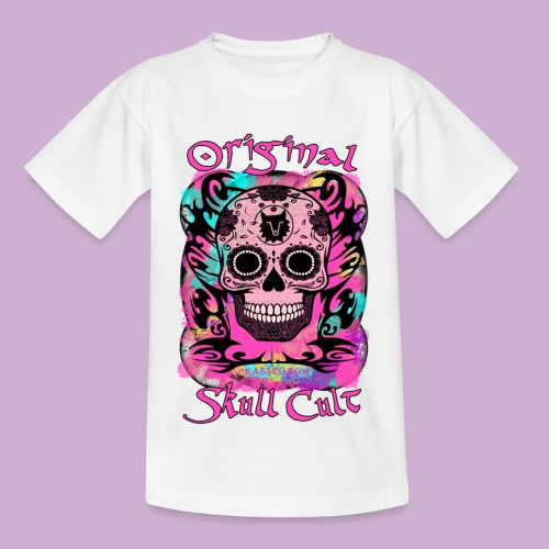 ORIGINAL SKULL CULT PINK - Kinder T-Shirt