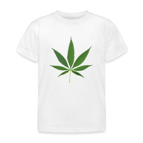 2000px-Cannabis_leaf_2 - Børne-T-shirt