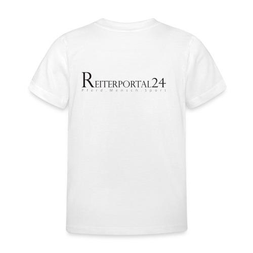reiterportal 24pferd mensch sportohnerot - Kinder T-Shirt