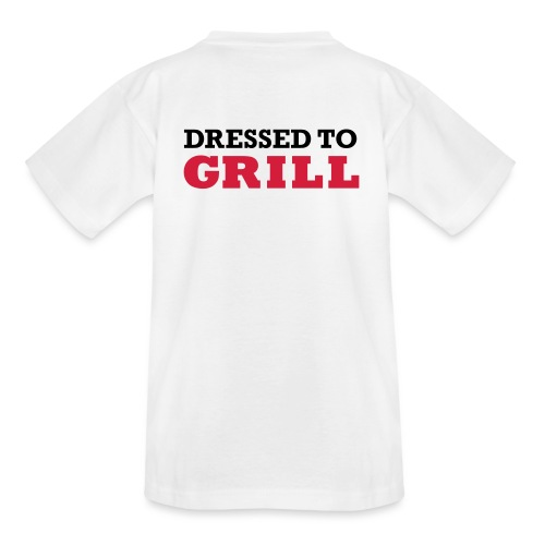 Dressed to grill op wit - Kinderen T-shirt