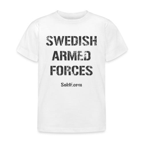 Swedish Armed Forces + SWE FLAG - T-shirt barn