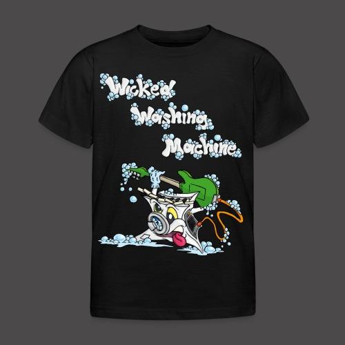 Wicked Washing Machine Cartoon and Logo - Kinderen T-shirt