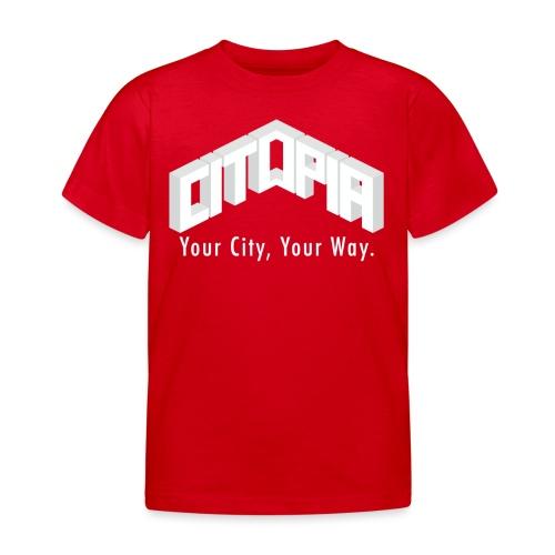 Logo with Slogan - Kids' T-Shirt