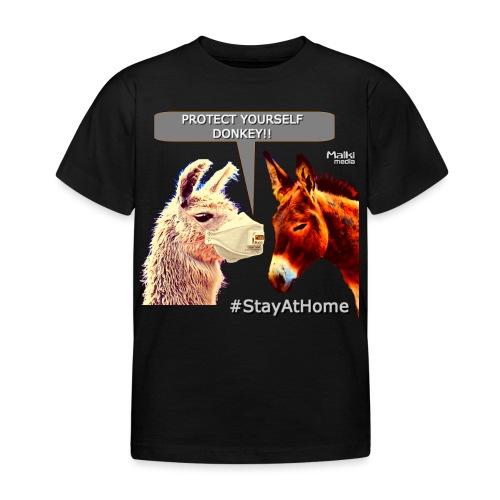 Protect Yourself Donkey - Coronavirus - Kids' T-Shirt