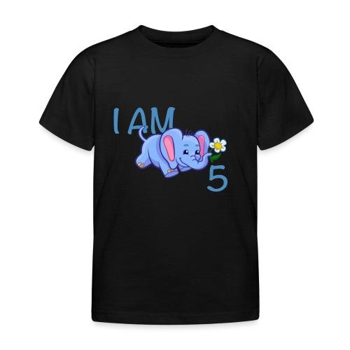 I am 5 - elephant blue - Kids' T-Shirt