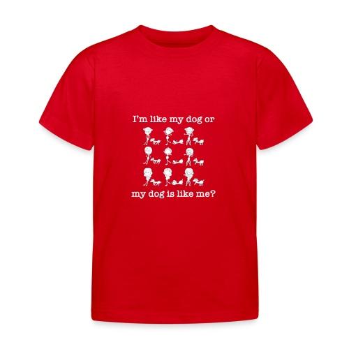 Cane con ragazza divertente - Maglietta per bambini