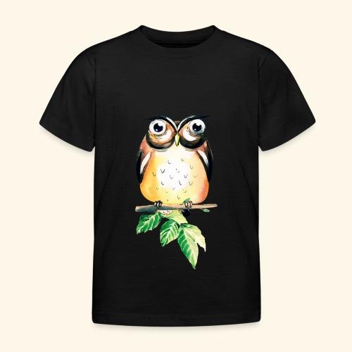 Die aufmerksame Eule - Kinder T-Shirt