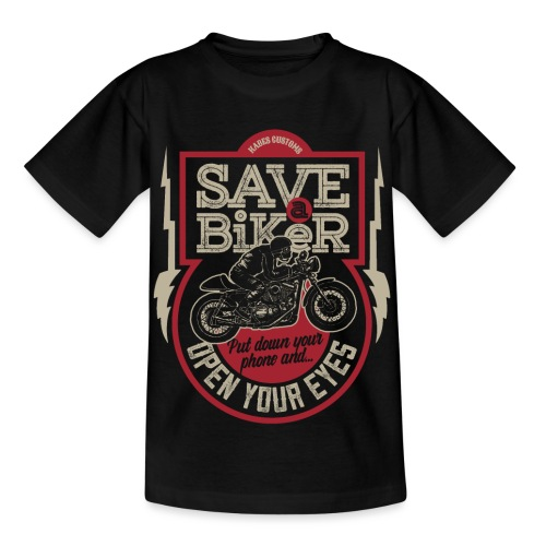 Save A Biker - Kids' T-Shirt
