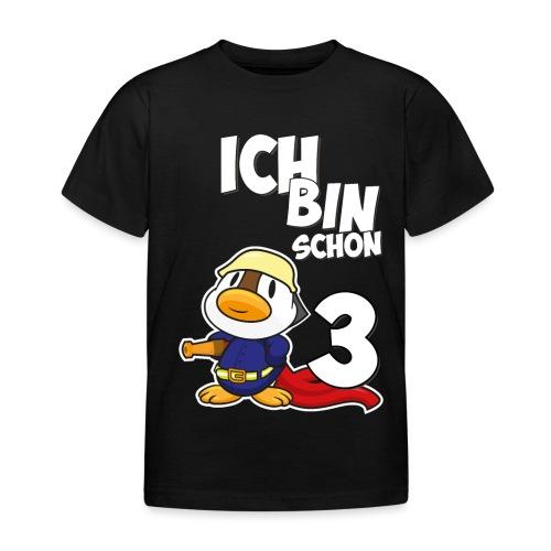 Stolze Feuerwehr Ente 3. Geburtstag Jungen Mädchen - Kinder T-Shirt