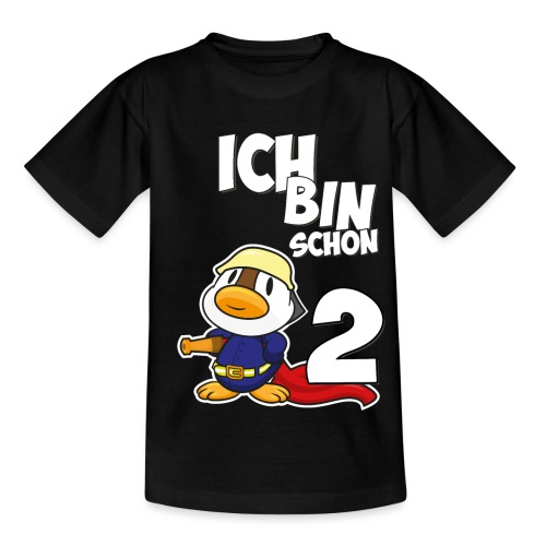 Stolze Feuerwehr Ente 2. Geburtstag Jungen Mädchen - Kinder T-Shirt