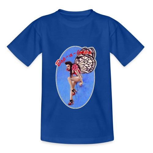 Vintage Rockabilly Butterfly Pin-up Design - Kids' T-Shirt