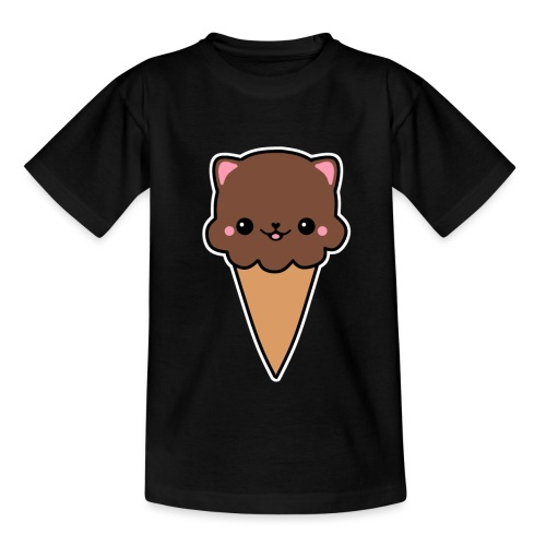 Eis Katze Schokolade - Kinder T-Shirt