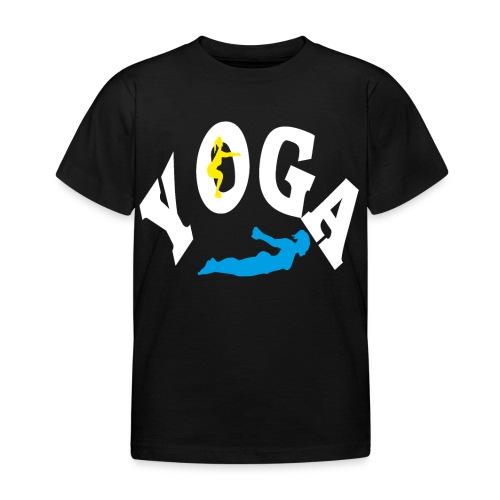 Yoga Schriftzug mit Posen Körperspannung Geschenk - Kinder T-Shirt