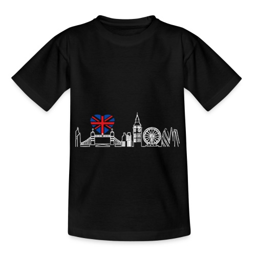 Cooles London Souvenir - Skyline mit Herz London - Kinder T-Shirt