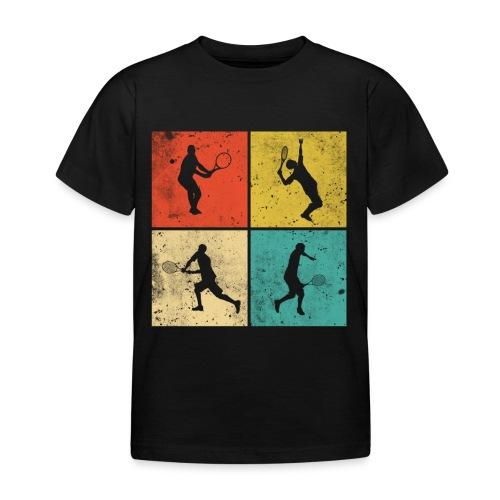 Tennis Tennisspieler Retro Geschenk - Kinder T-Shirt
