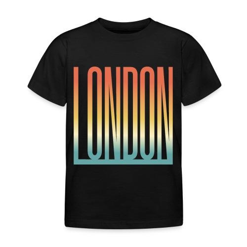 London Souvenir England Simple Name London - Kinder T-Shirt